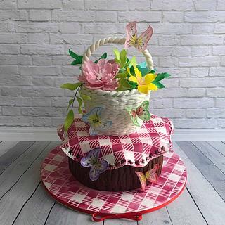 Basket flowers
