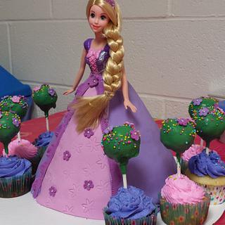 Rapunzel with topiaries