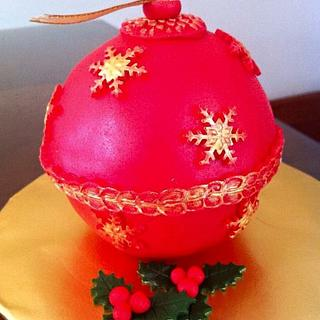 Christmas bauble minicake