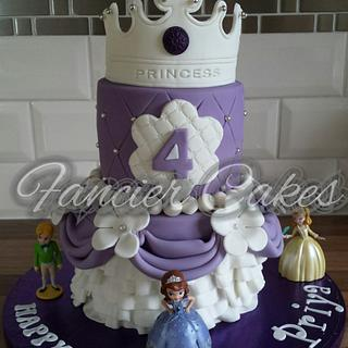 Sophia the first birthday cake - Cake by Fancier Cakes