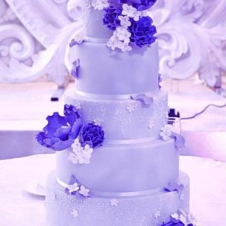 {Lavender Love} Wedding Cake