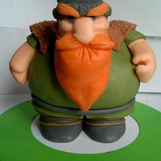 Fondant Viking - Cake by Roseanne