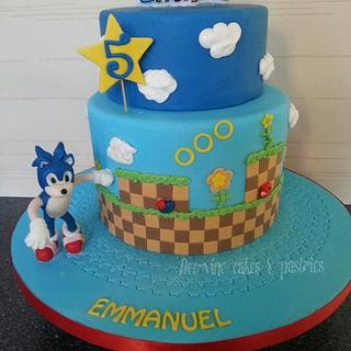 sonic hedgehog cake