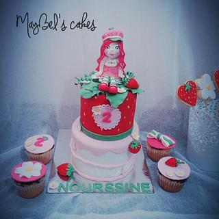 Strawberry shortcake  - Cake by MayBel's cakes