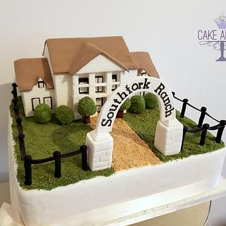 Southfork Ranch Wedding cake