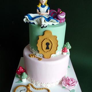 Alice in Wonderland cake - Cake by Clara