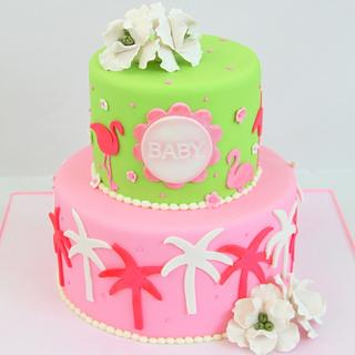 Lilly Pulitzer Baby Shower Cake - Cake by Cakes by Maylene