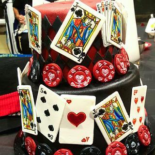 Casino themed 50th cake - Cake by Robert Harwood