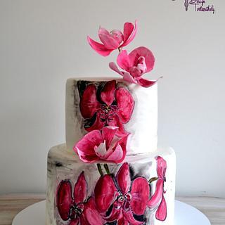 Orchidea cake - Cake by Krisztina Szalaba