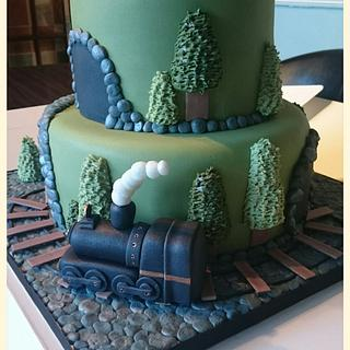 steam train cake