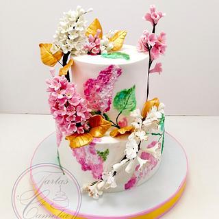 TARTA LILAS  - Cake by Camelia