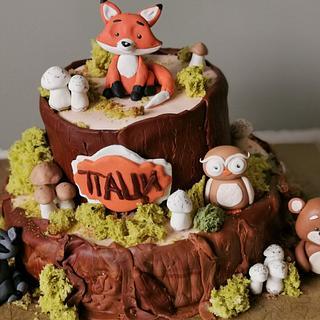 Woodland fairytale cake
