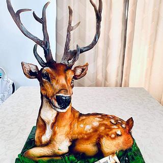 Fallow deer - Cake by Tanya Shengarova