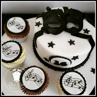 Black and White Theatre and Music Cake