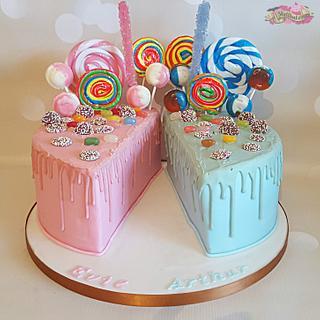 Split Lolly drip cake