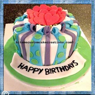 Combined birthday celebration cake - Cake by Kirsty