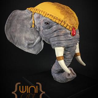 Elephant - Cake by xavier winiart