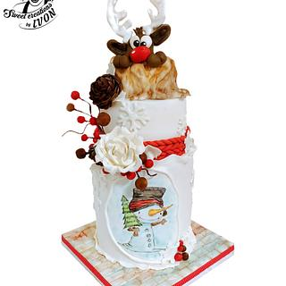 Christmas Reindeer - Cake by Ivon