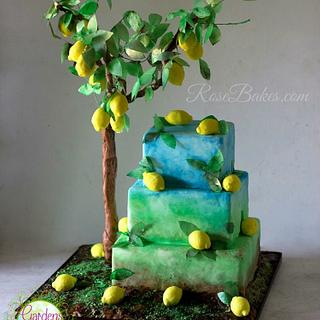 Lemon Tree Cake - Gardens of the World Cake Collaboration