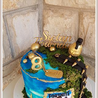 Fortnite bday cake - Cake by TorteMFigure