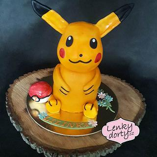 Pikachu 3D cake with a rotating head - Cake by Lenkydorty