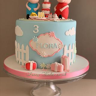 Peppa Pig - Cake by Penny Sue