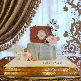 Marbel Florie Cake - Cake by Nana Ahmed