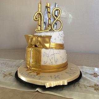 Topsy Turvy Girls 18th Birthday Cake  - Cake by Fondant Follies Cakes