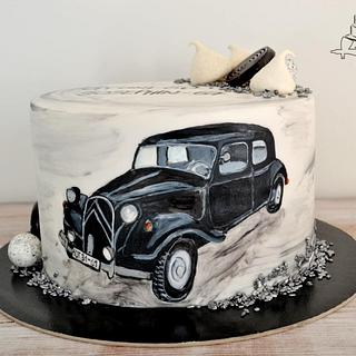Old Citroen Car Cake - Cake by Krisztina Szalaba