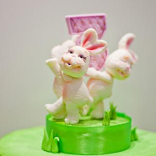 Three cute bunnies