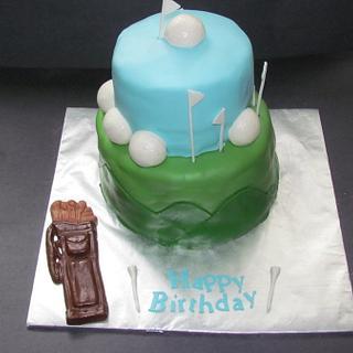 Golf Cake - Cake by NickySignatureCakes