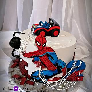 Spider-man cake....