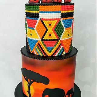 Maasai bead and safari cake