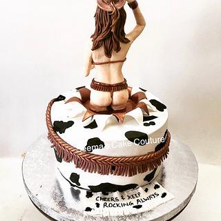 Cowgirl  - Cake by Seema Tyagi