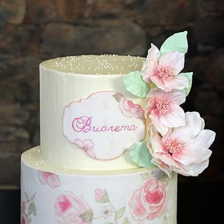 Hand painted cake! :)