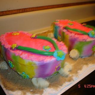 Flip Flop Cake - Cake by Dana