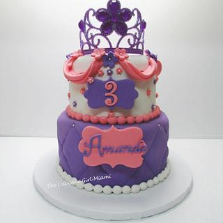 Sofia the first inspired cake