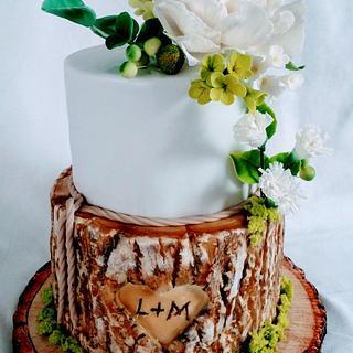 Wedding rustical - Cake by alenascakes