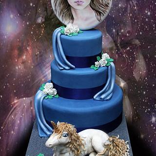 Unicorn cake with tutorial link ♥