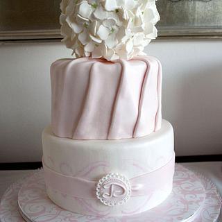 Hydrangea Pomander Cake - Cake by Delicia Designs