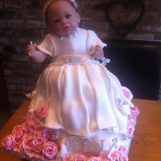 Baby Doll Christening Cake