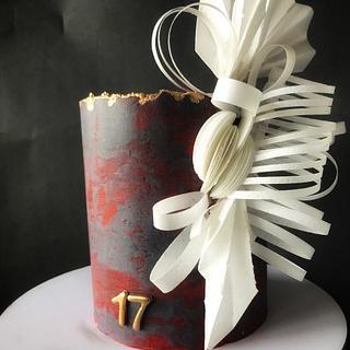 Wafer paper origami styled cake  - Cake by Gungun Chanda