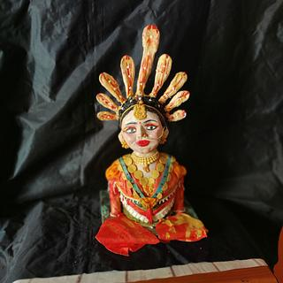 Folk Dancer Bust Cake