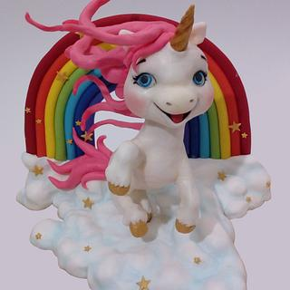 Unicorn cake topper - Cake by Snezana
