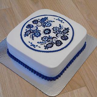 Blue inspiration  - Cake by Janka