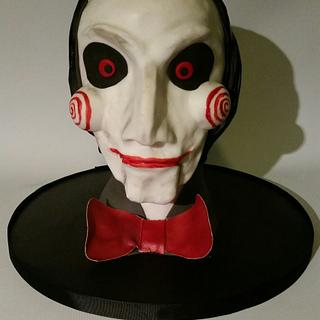 Billy the puppet from the horror movie 'Saw'