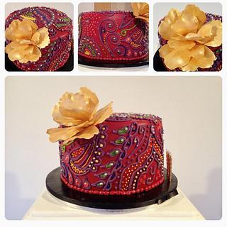 Henna Birthday Cake