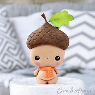 Cute Acorn Cake Topper