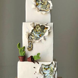 Three Little Kittens cake...….