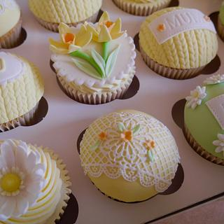 80th birthday Summer cupcakes